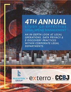 4th Annual Study of Effective Legal Spend Management