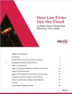 How Law Firms Use the Cloud to Make Teams Productive Wherever They Work